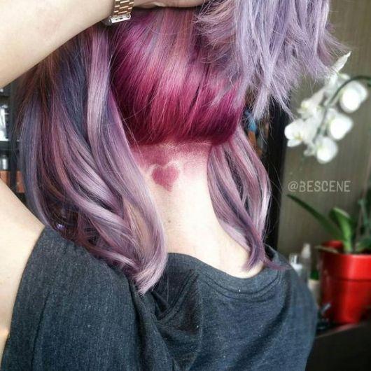 cabelo rosa e lilás