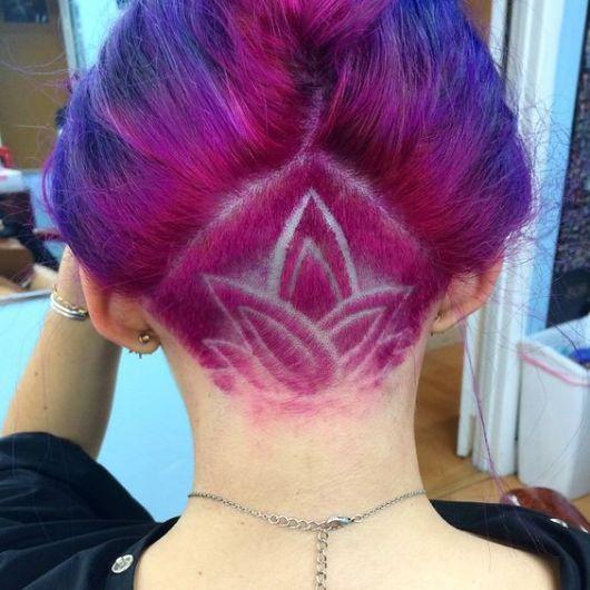 cabelo rosa e roxo