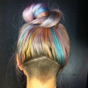 cabelo colorido liso