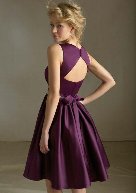 vestido de cetim rodado