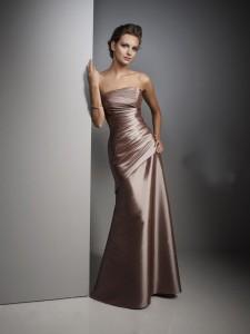 vestido de cetim longo sereia