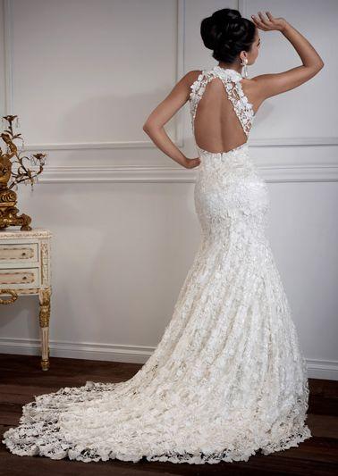 vestido de noiva de crochê cauda