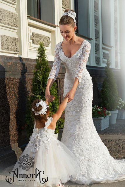 vestido de noiva de crochê estilo irlandês