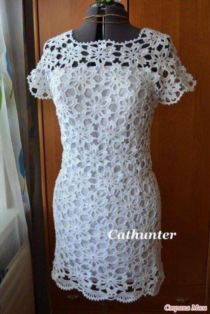 vestido de noiva de crochê gráfico 3 vestido