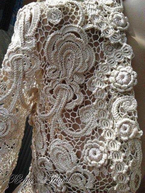 vestido de noiva de crochê modelo irlandês