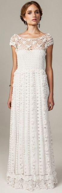 vestido de noiva de crochê princesa