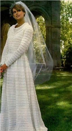 vestido de noiva de crochê rodadinho