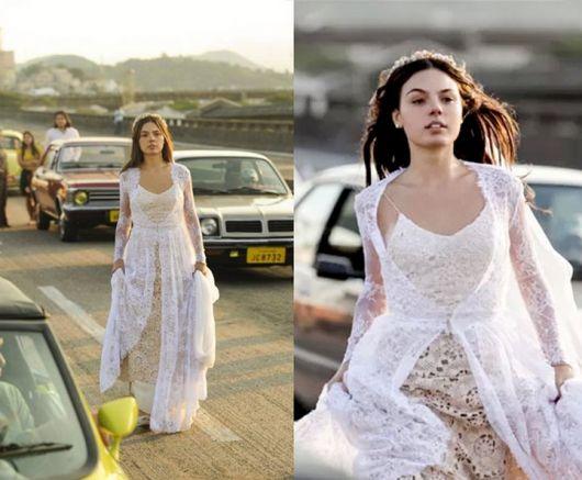 vestido de noiva de crochê rodado isis valverde