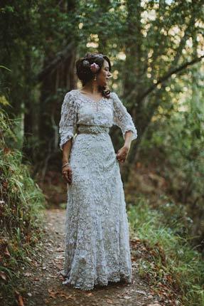 vestido de noiva de crochê solto