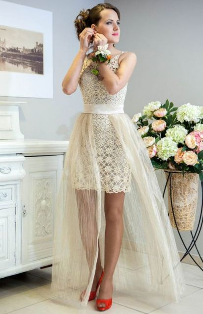 vestido de noiva de crochê tubinho
