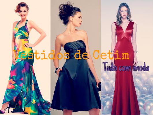 617d09add9 Vestidos de Cetim  70 modelos e dicas de como usar!