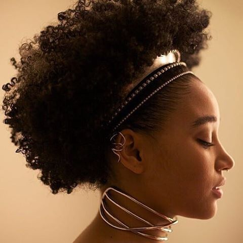 penteado afro puff