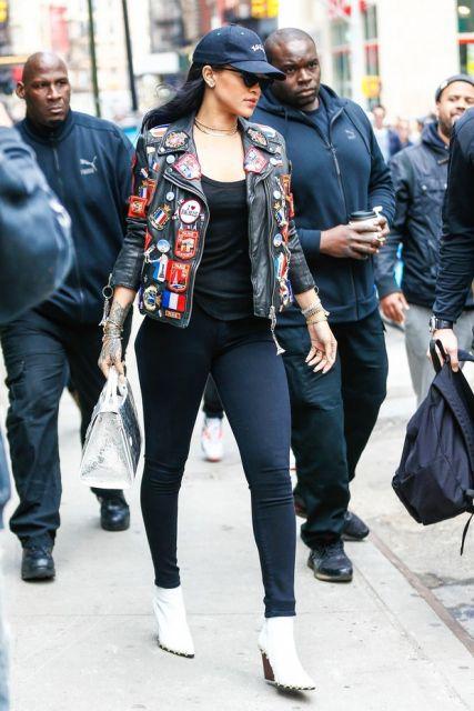 jaquetas com patches couro