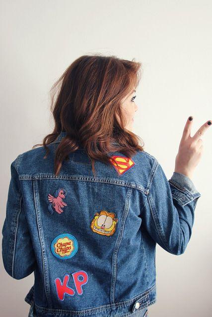 jaquetas com patches customização fica assim