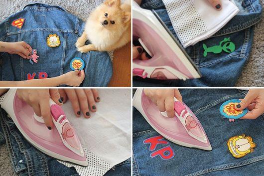 jaquetas com patches customização