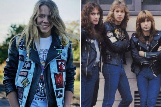 jaquetas com patches fotos anos 80
