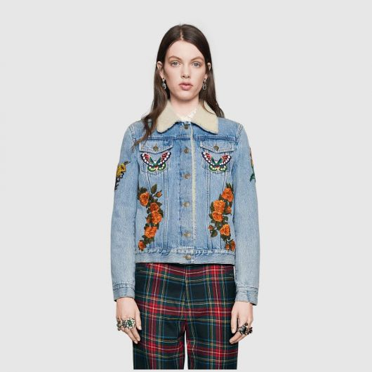 jaquetas com patches jeans com gola