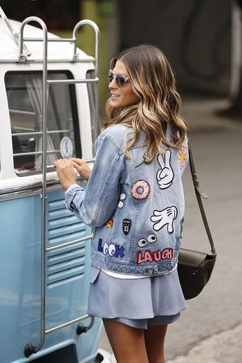 jaquetas com patches jeans