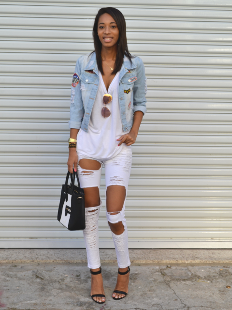 jaquetas com patches look branco