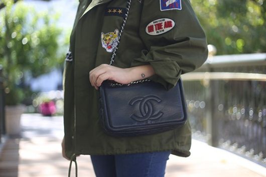jaquetas com patches militar