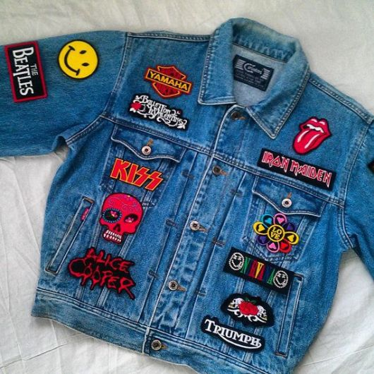 jaquetas com patches rock