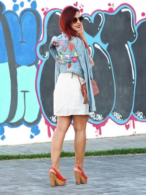 jaquetas com patches vestido verão