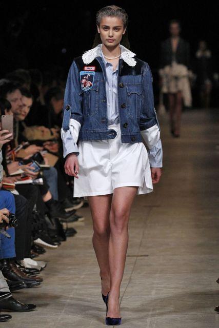 looks outono com jaqueta jeans