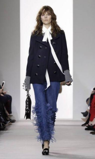 looks outono jeans desconstruído