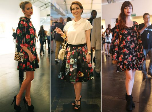 looks primavera estampa floral dark