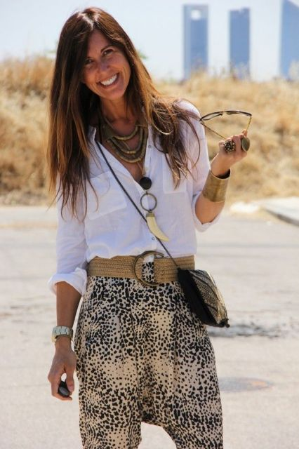 looks primavera estilo safari chic