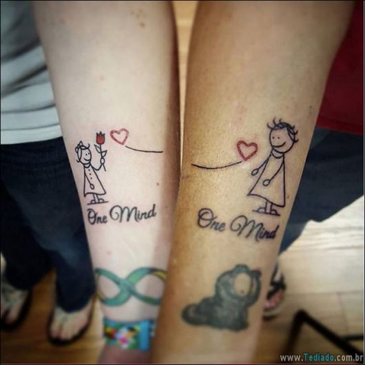 tatuagem mãe e filha combinando ideias