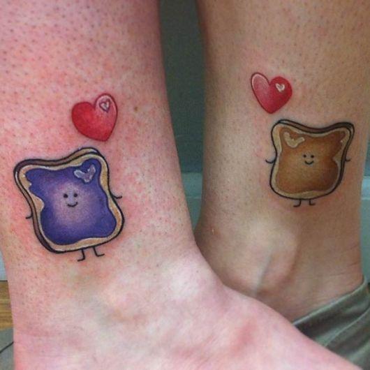tatuagem mãe e filha combinando