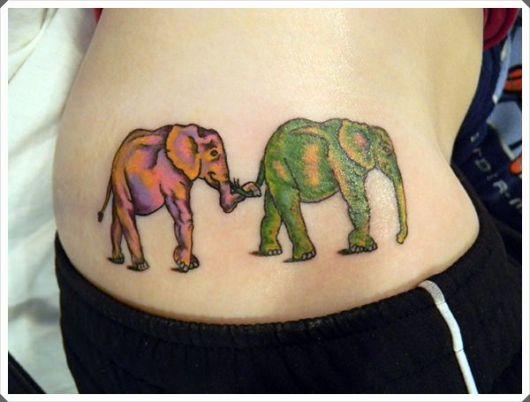 tatuagem mãe e filha design