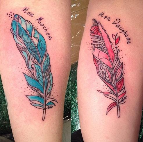 tatuagem mãe e filha divertida ideias