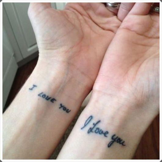 tatuagem mãe e filha eu te amo