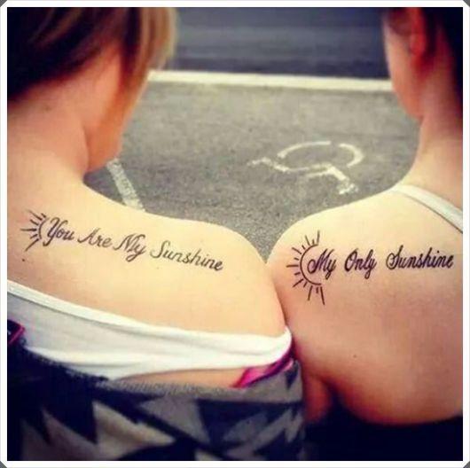 tatuagem mãe e filha frase 1