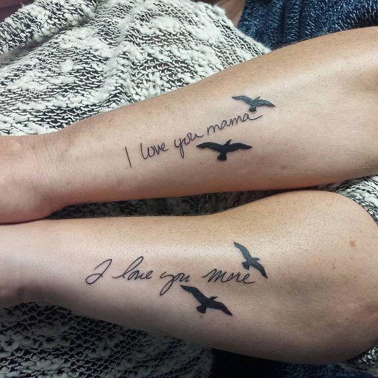 tatuagem mãe e filha i love u