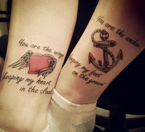 tatuagem mãe e filha ideia frase