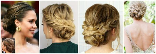 penteados coque com trança