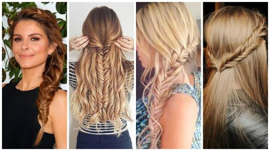 penteados com trança escama de peixe
