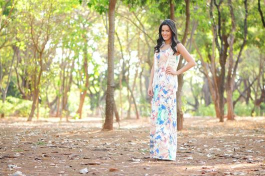 vestido floral com bolero