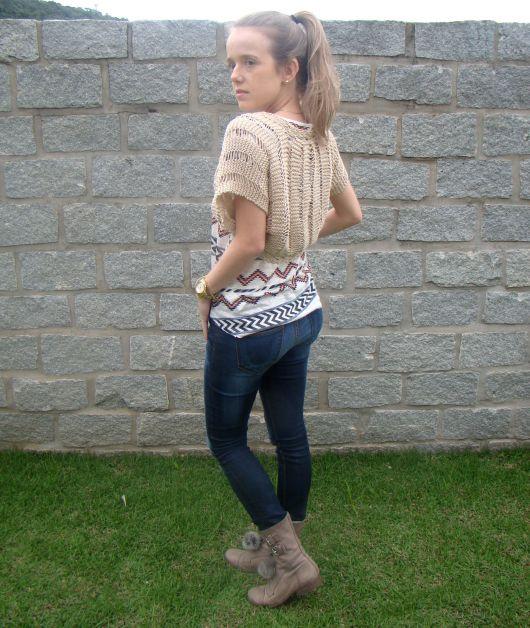 look com calça jeans