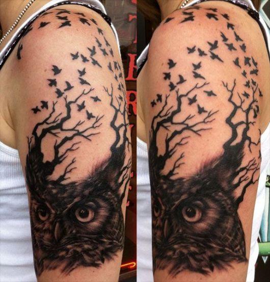 coruja-tatuagem-de-arvore