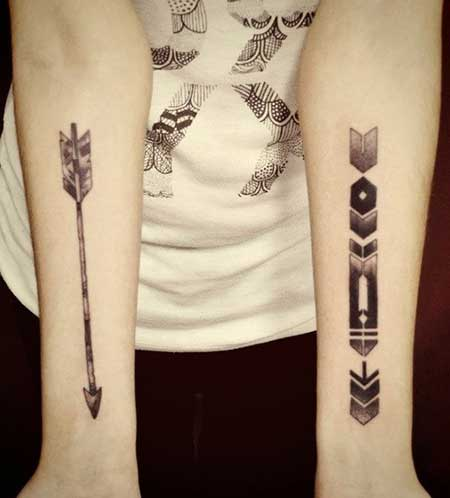 Tatuagem de Flecha: Significado, variações e + de 60 ideias e fotos!