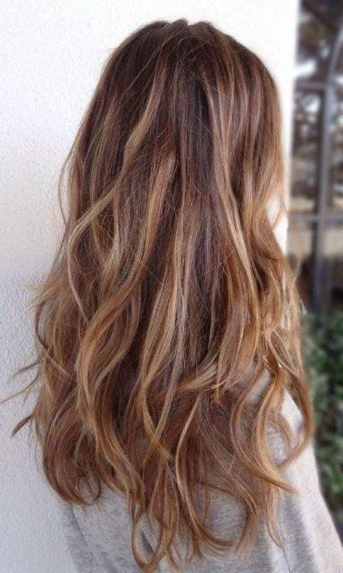 cabelo mel com mechas