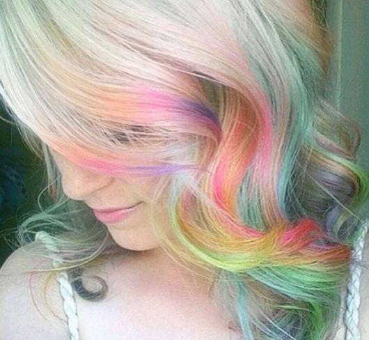 platinado e colorido
