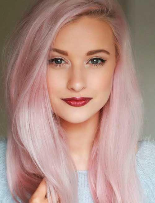cabelo rosa claro