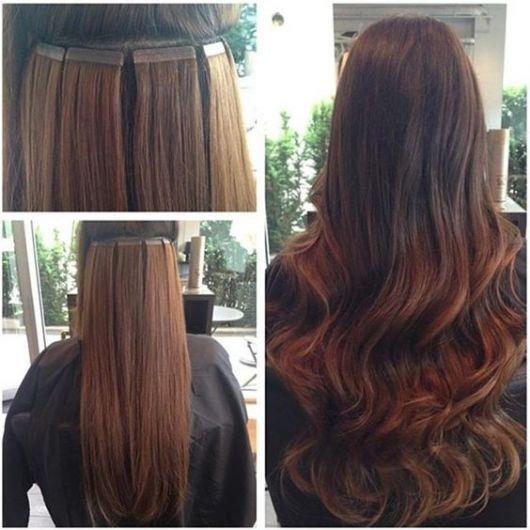 antes e depois cabelo castanho