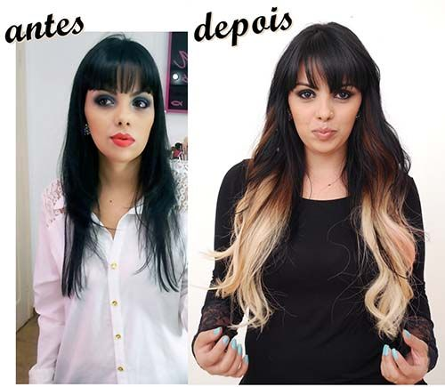 alongamento ombré hair