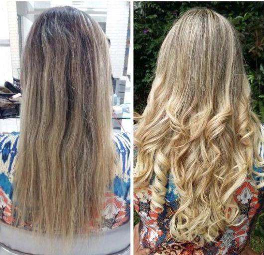 cabelo com mechas invertidas